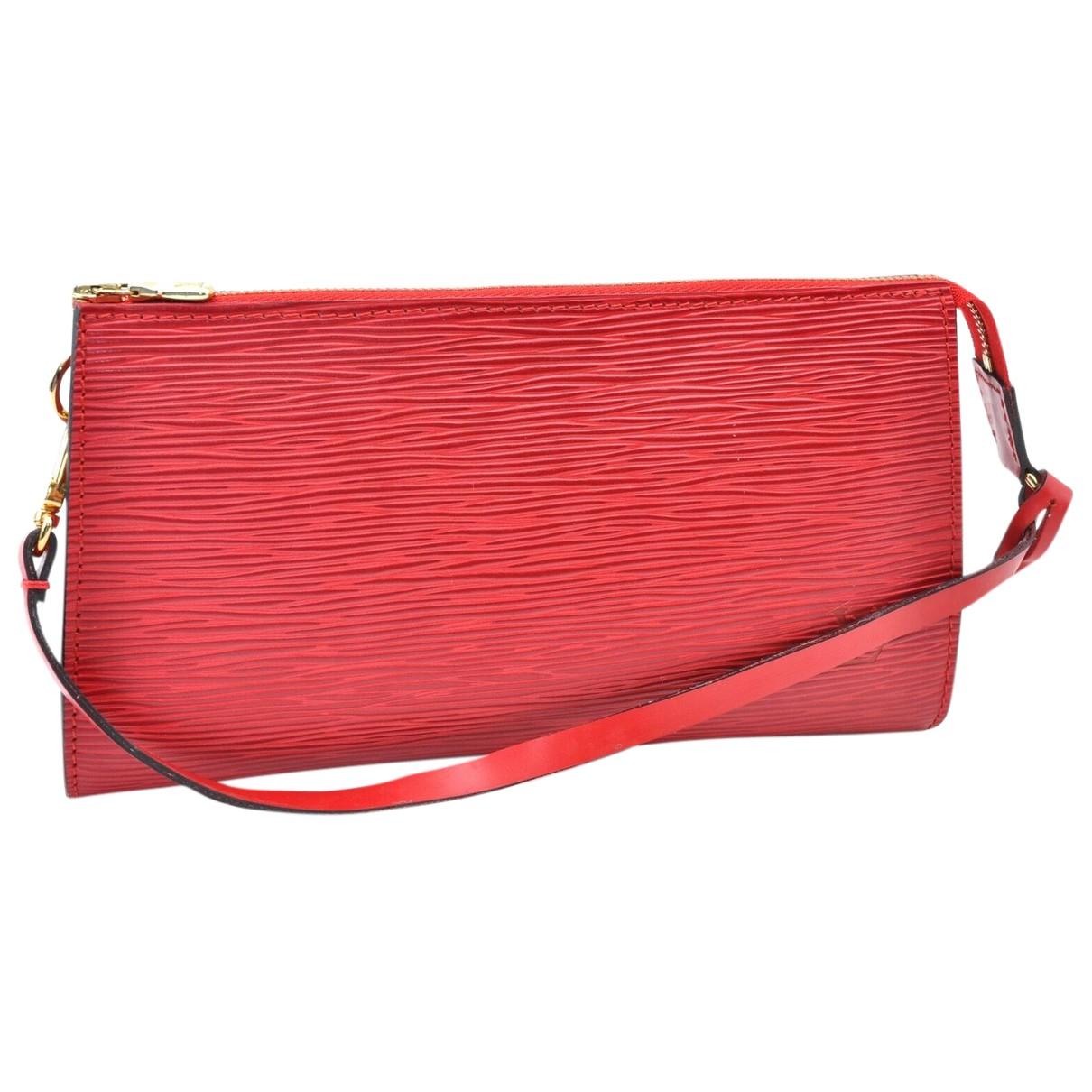 Louis Vuitton - Pochette Pochette Accessoire pour femme en cuir - rouge