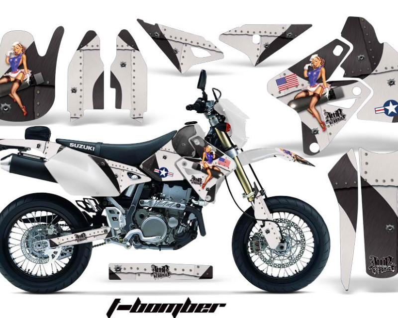 AMR Racing Dirt Bike Graphics Kit Decal Sticker Wrap For Suzuki DRZ400SM 2000-2018áTBOMBER BLACK