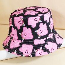 Sombrero cubo con dibujos animados