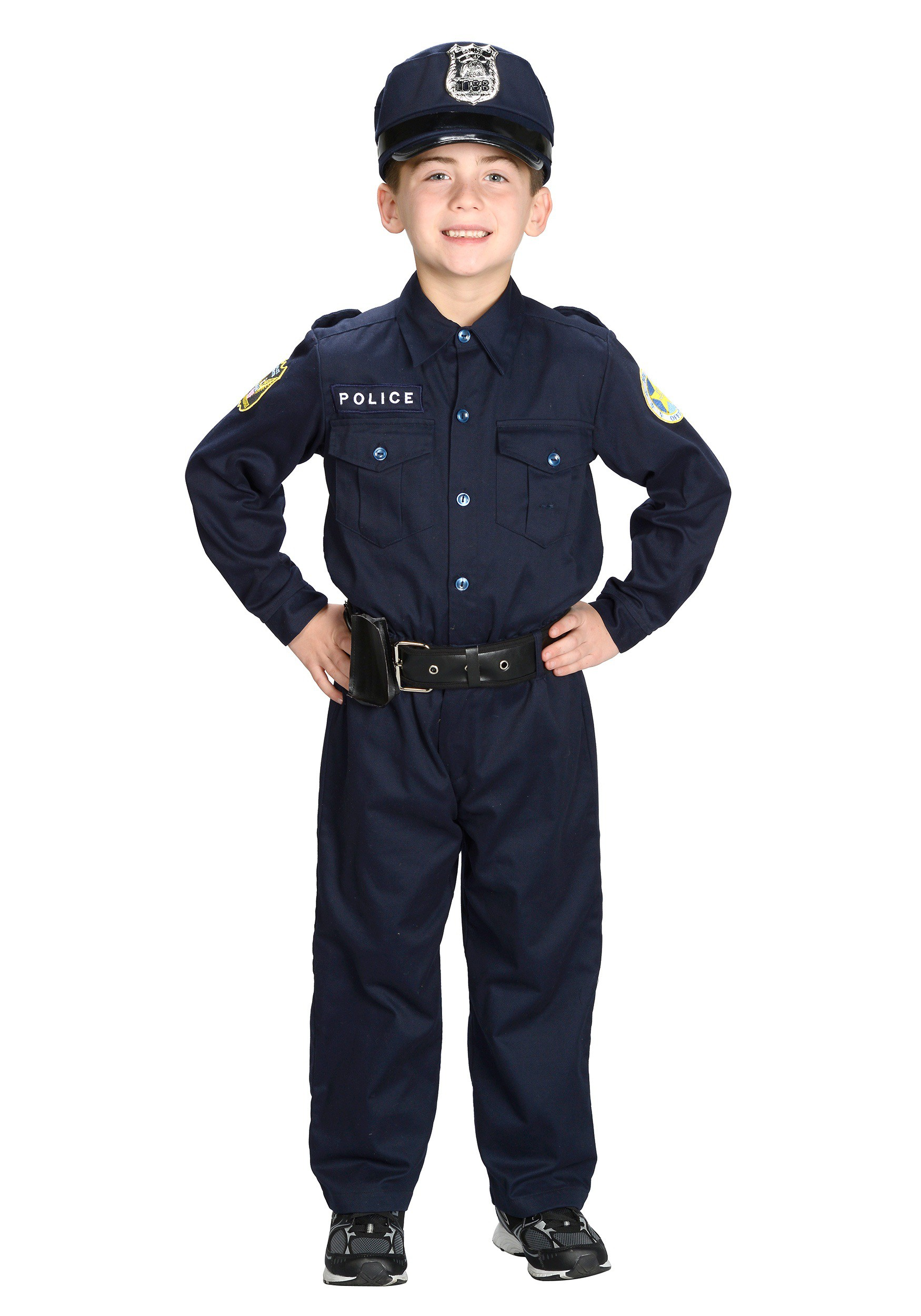 Boys Deluxe Police Officer Costume For Child