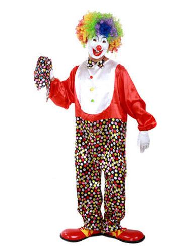 Milanoo Easy Clown Costume Men Mardi Gras Circus Costume Red Jumpsuit With Hat