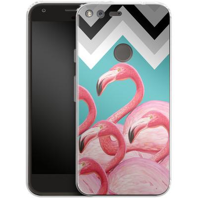 Google Pixel Silikon Handyhuelle - Flamingo Pattern von Mark Ashkenazi