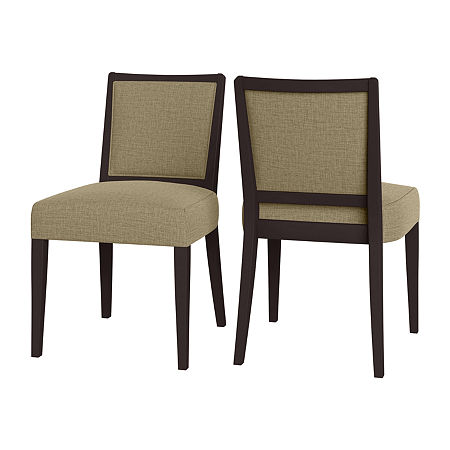 O'Neil Armless Dining Chair Jutelike 2-Pack, One Size , Beige