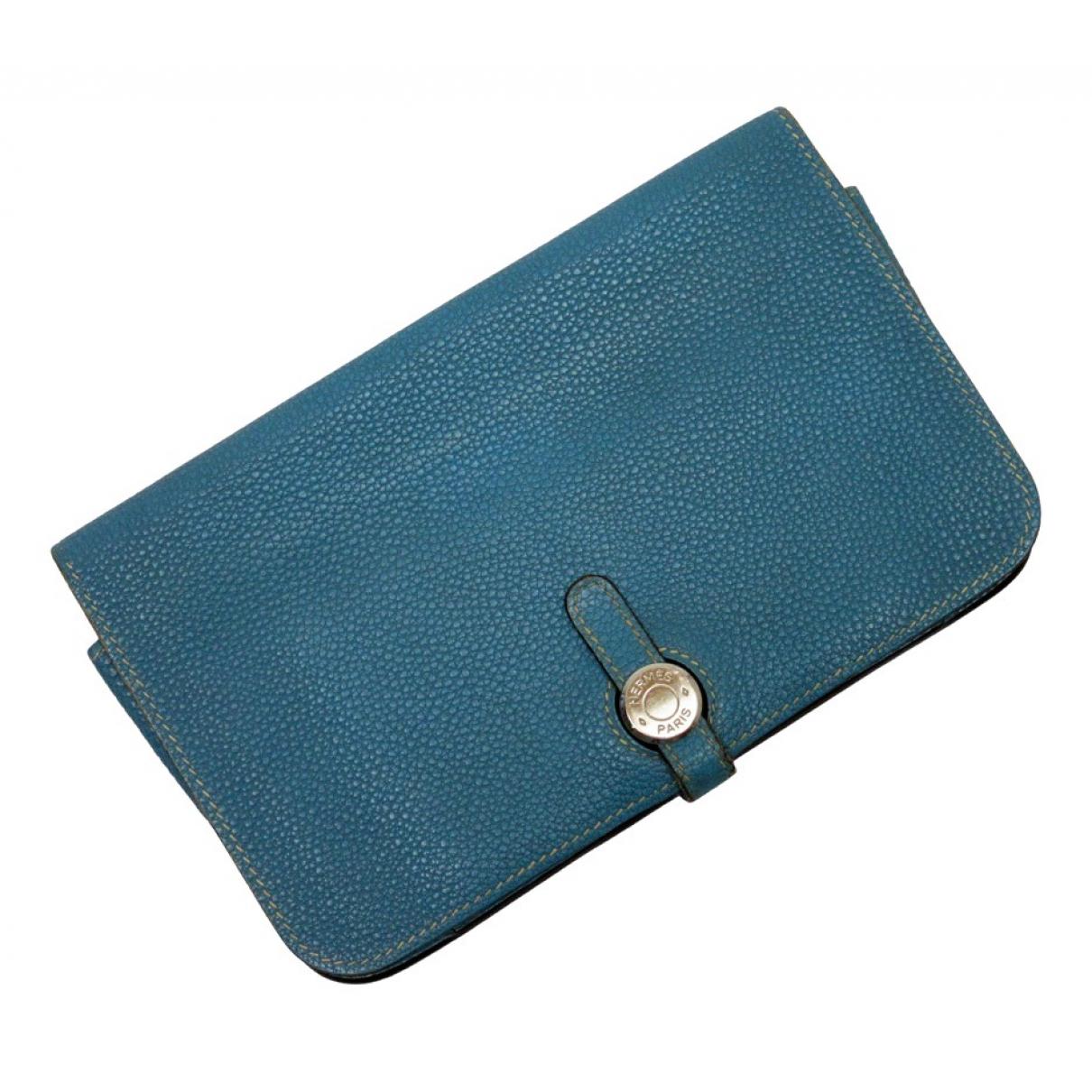 Hermes - Portefeuille Dogon pour femme en cuir - multicolore