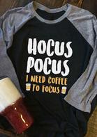 Hocus Pocus I Need Coffee To Focus T-Shirt Tee - Black