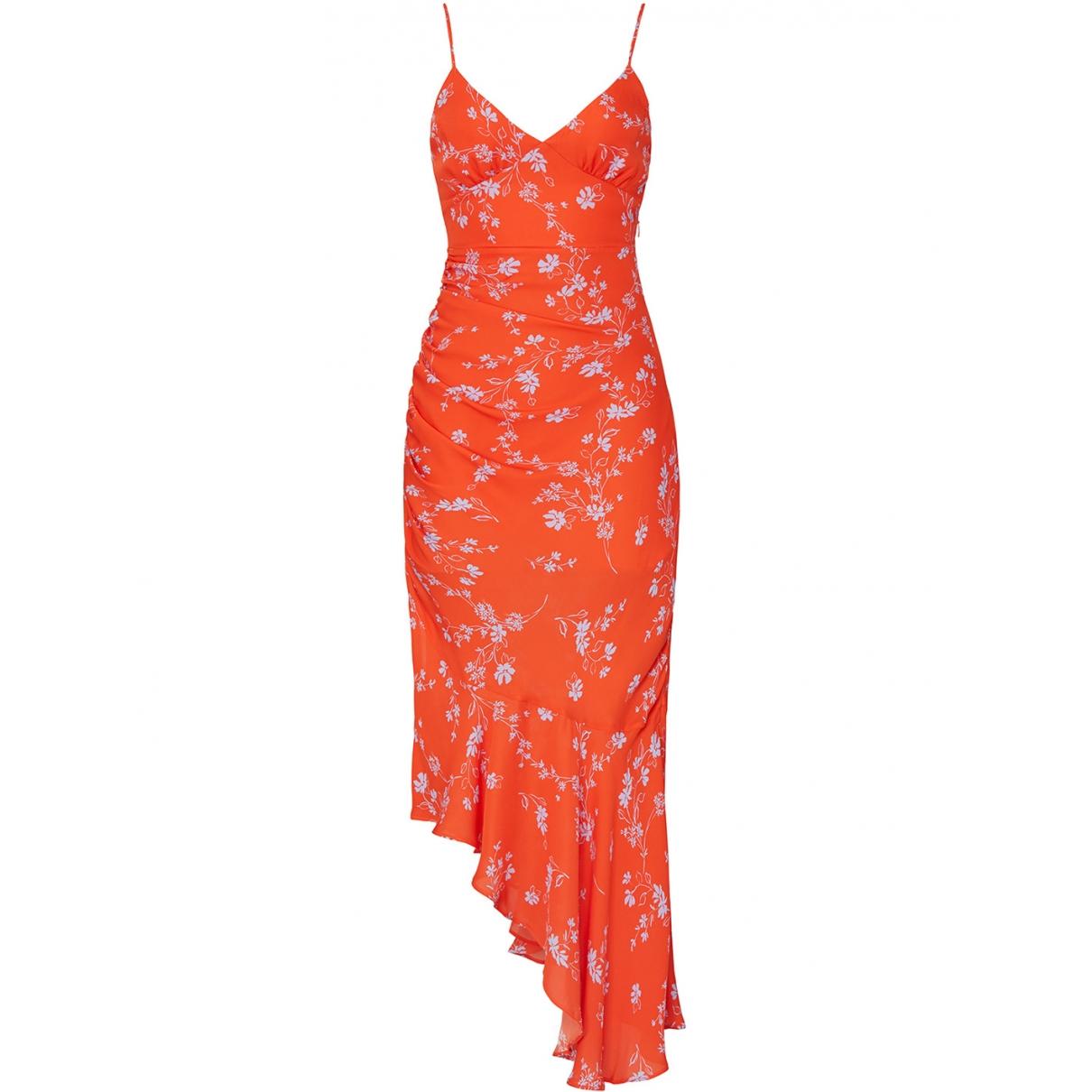 Nicholas - Robe   pour femme en soie - orange