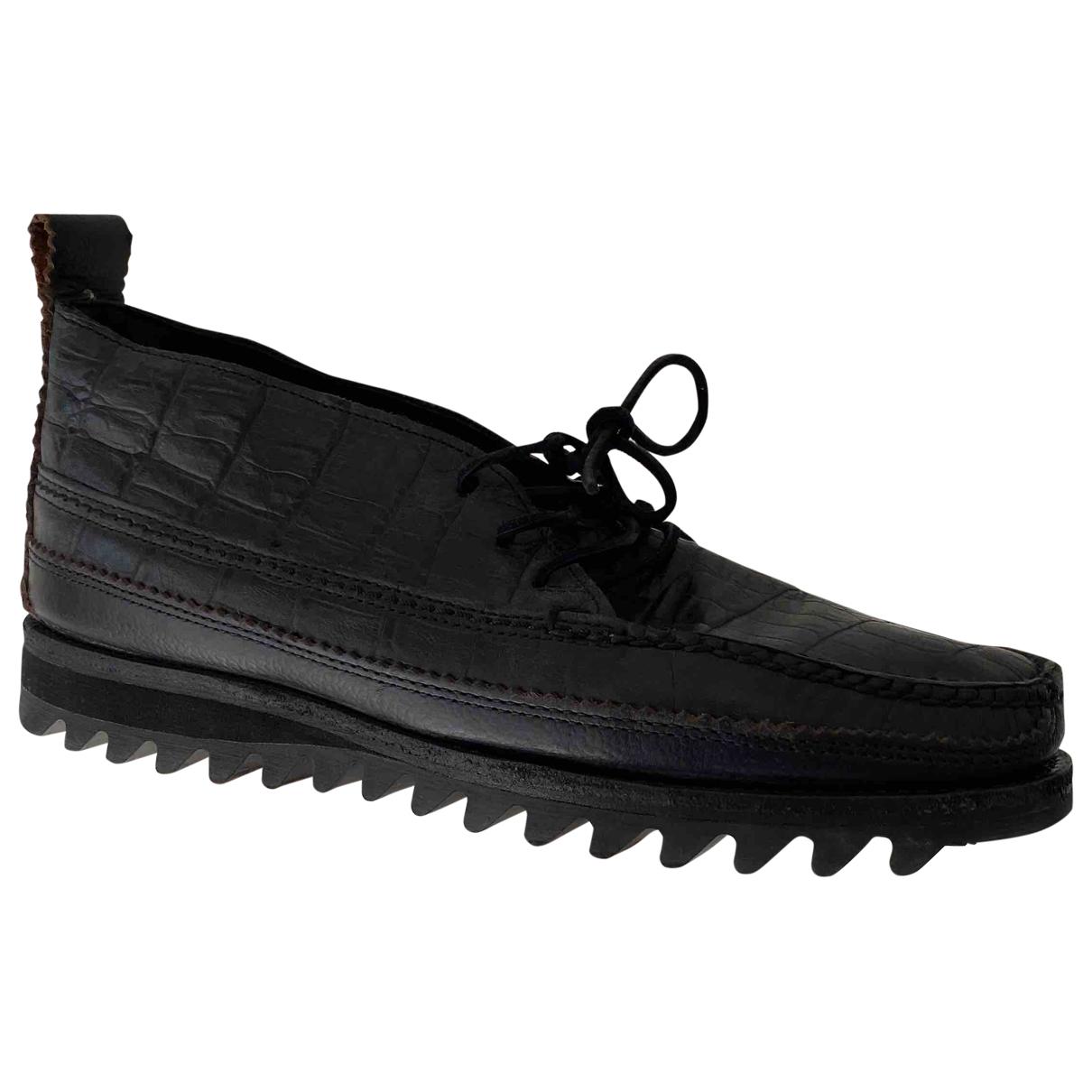 Yuketen - Derbies   pour homme en cuir - noir