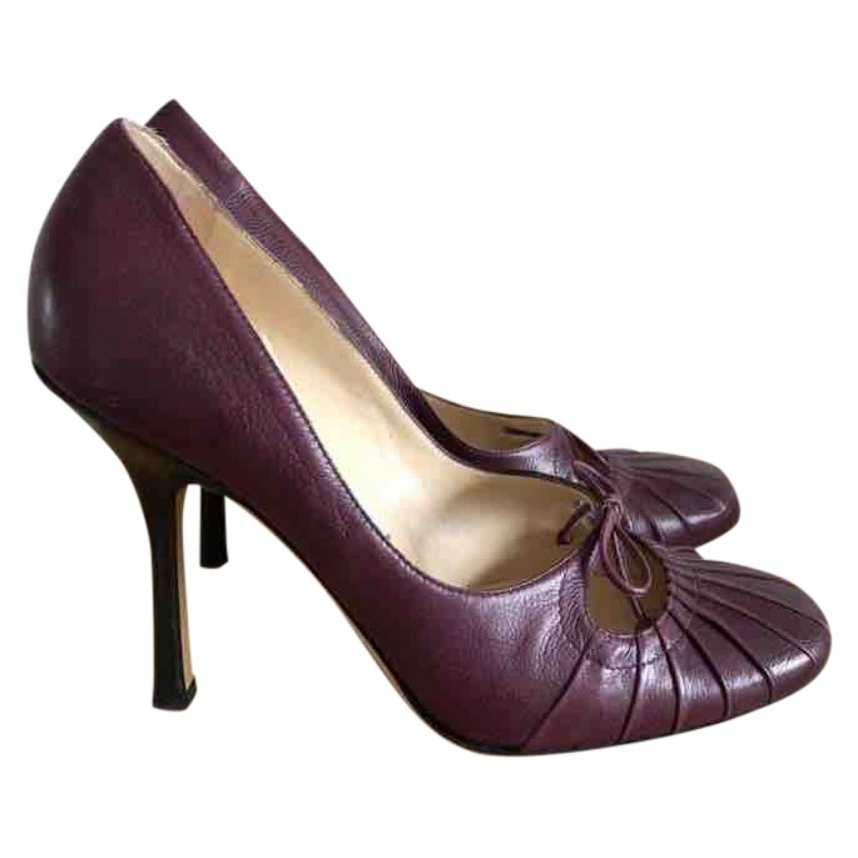 Jimmy Choo \N Purple Leather Heels for Women 38 IT