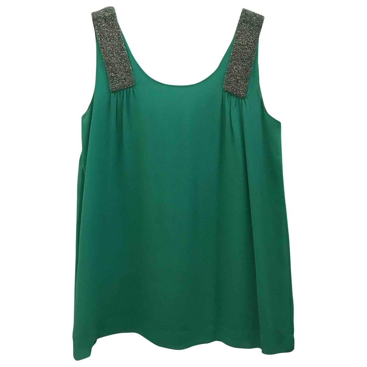 Stella Forest - Top   pour femme en soie - vert