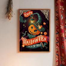 Leinwandbild mit Halloween Kuerbis Muster ohne Rahmen