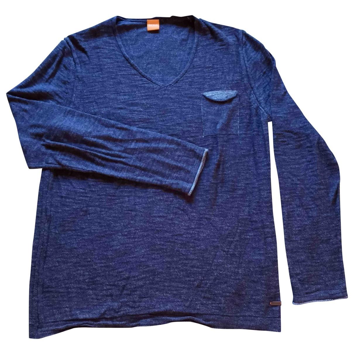 Boss Orange - Pulls.Gilets.Sweats   pour homme en coton - bleu