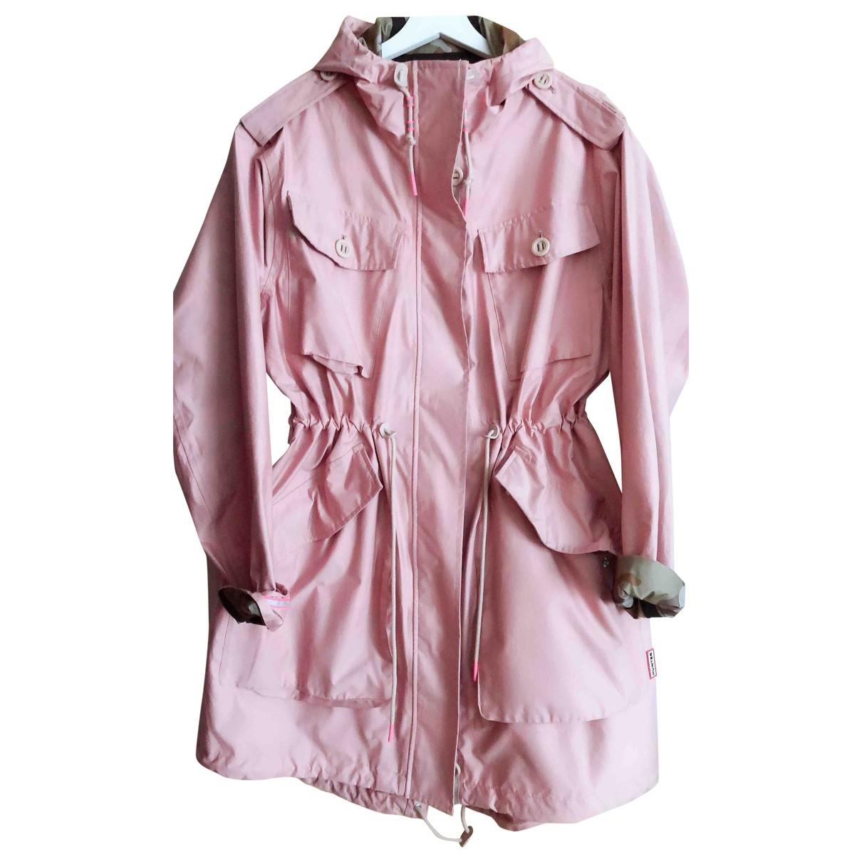 Hunter - Trench   pour femme en coton - rose