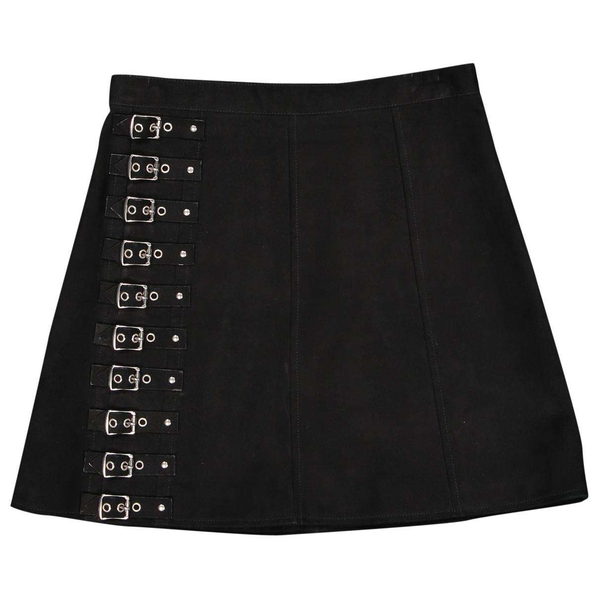 Saint Laurent \N Black Suede skirt for Women 42 FR