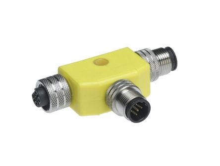 Brad Connector, 5 contacts Cable Mount M12 Plug and Socket, Crimp IP67