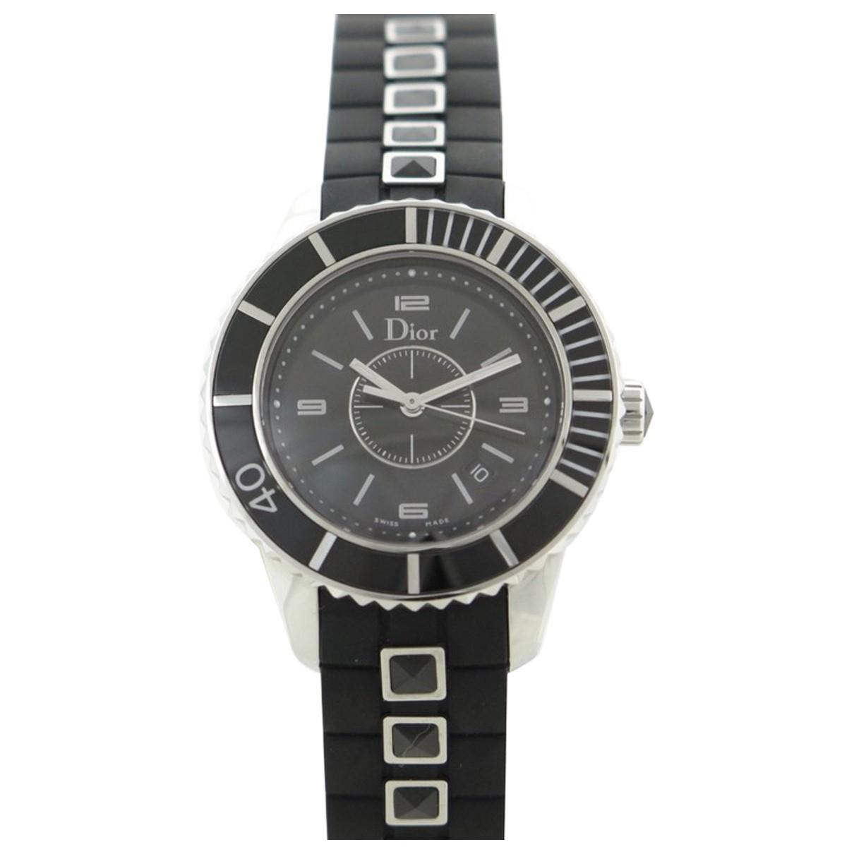 Dior Christal Uhr in  Schwarz Stahl