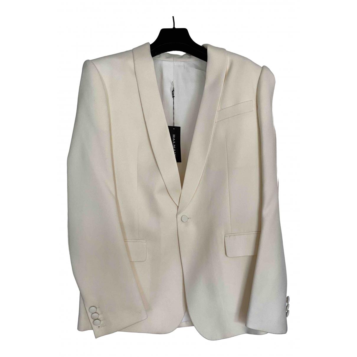 Balmain - Vestes.Blousons   pour homme en laine - blanc