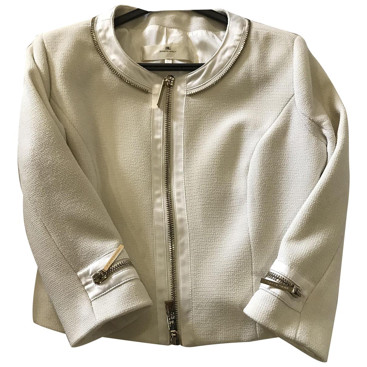 Elisabetta Franchi N Ecru jacket for Women 44 IT