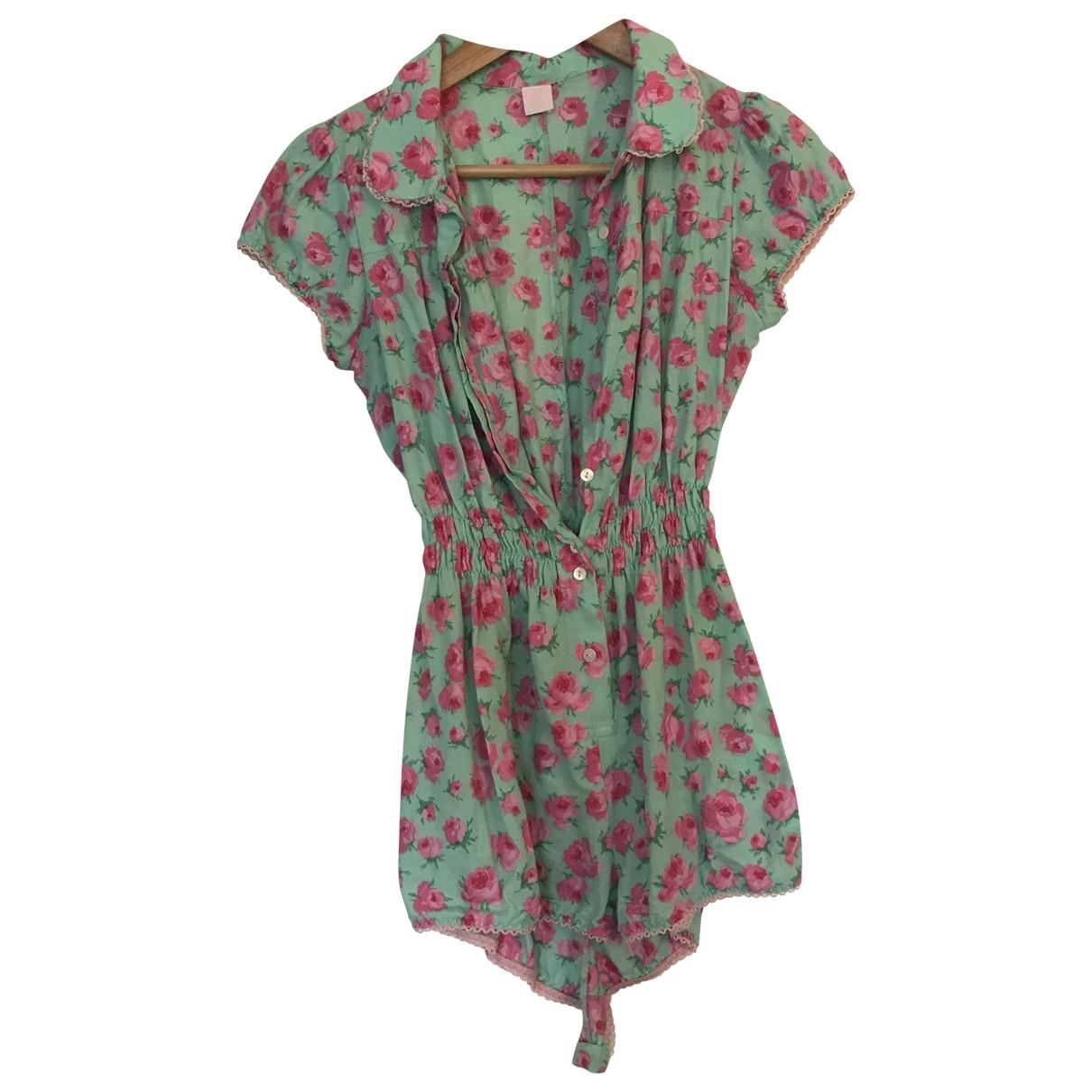 Fifi Chachnil - Combinaison   pour femme en coton - turquoise