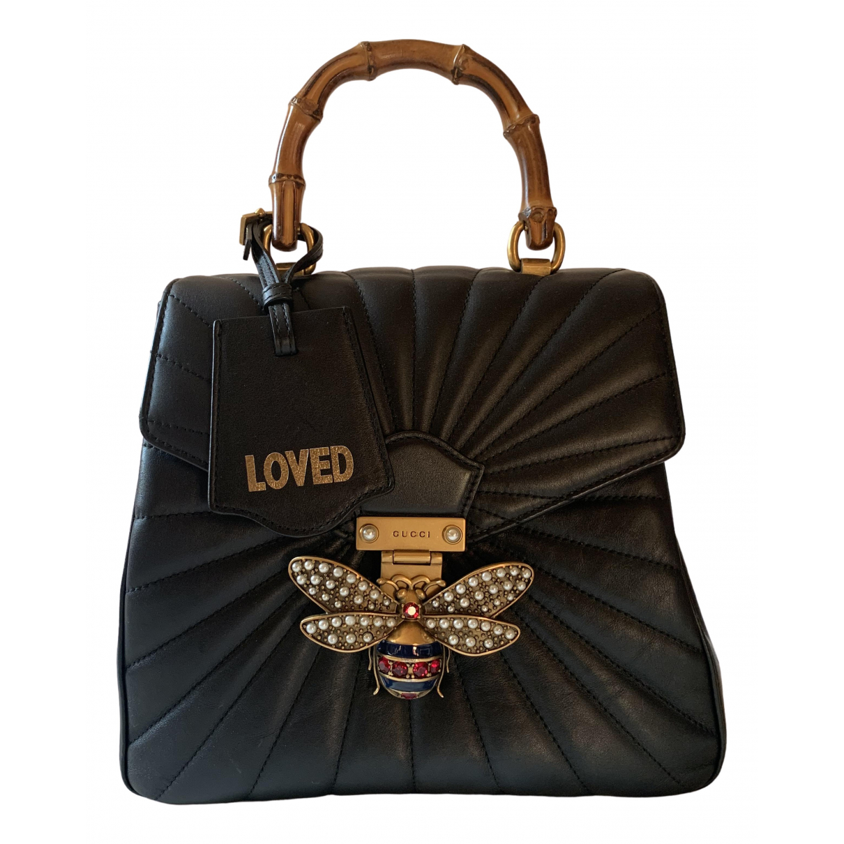 Gucci Queen Margaret Black Leather backpack for Women \N