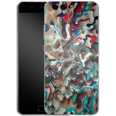 Huawei P10 Silikon Handyhuelle - Weird Surface von Danny Ivan