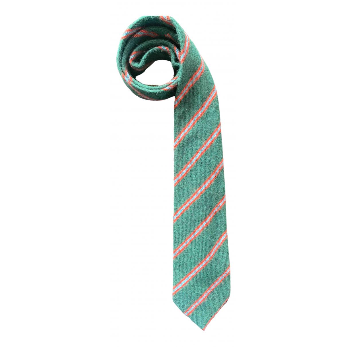 Yves Saint Laurent N Green Cashmere Ties for Men N