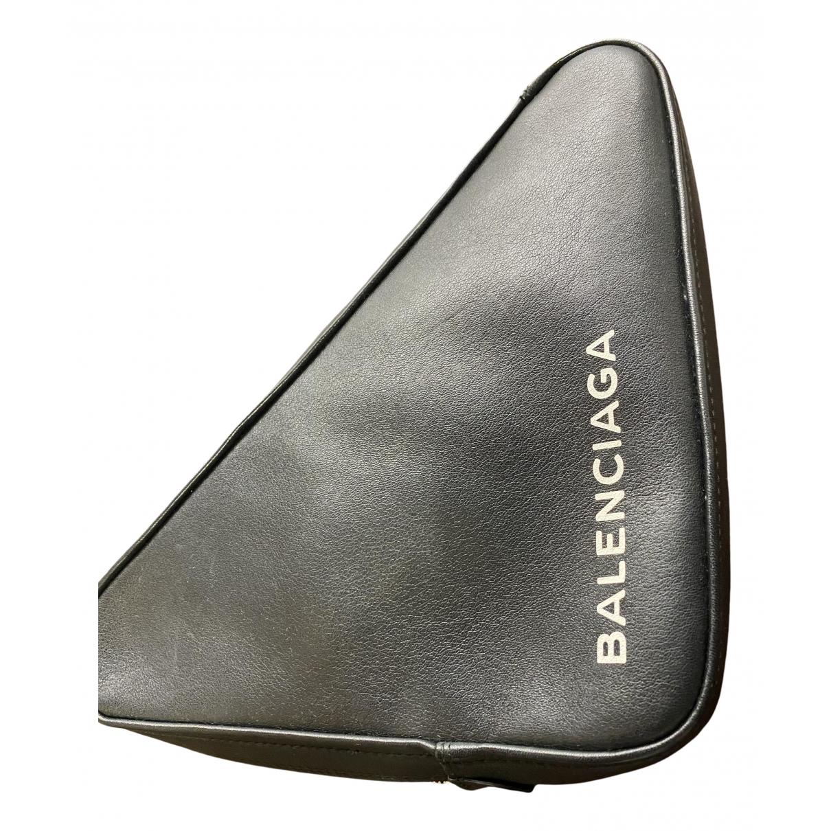 Balenciaga - Pochette Triangle pour femme en cuir - noir