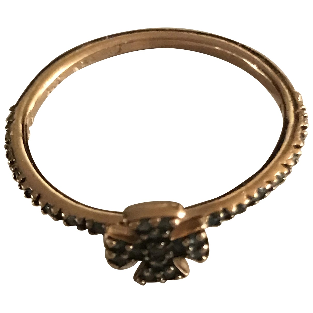 Non Signé / Unsigned Croix Blue Pink gold ring for Women 52 EU