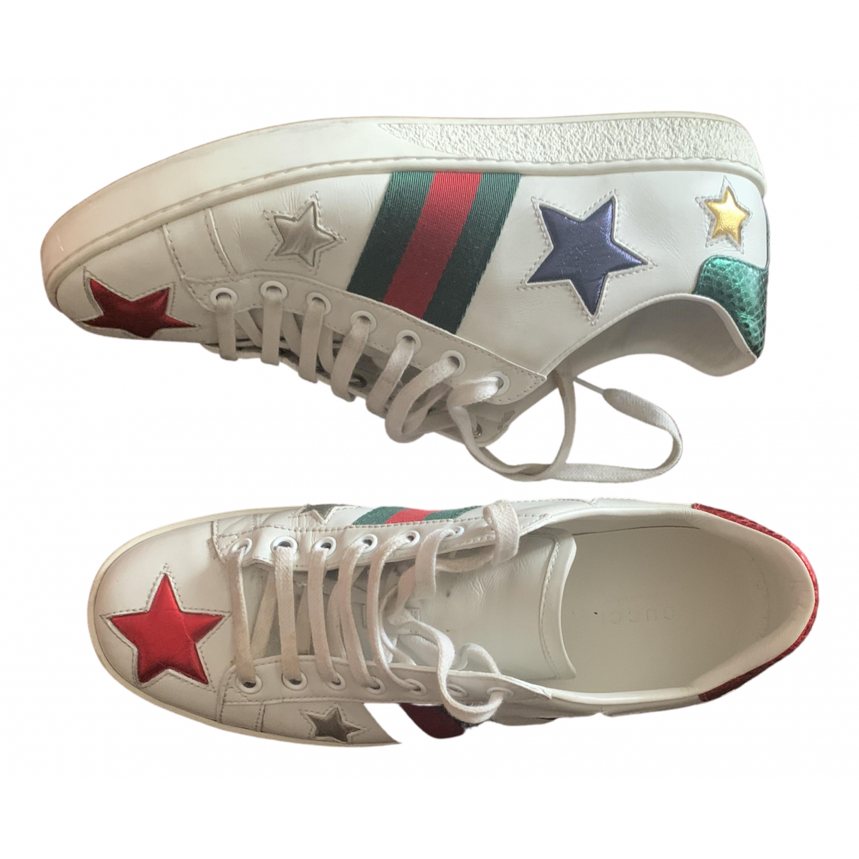 Gucci Ace White Leather Trainers for Women 39 EU