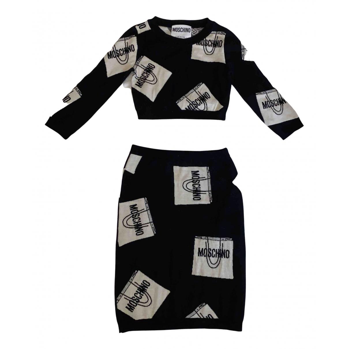 Moschino - Robe   pour femme en laine - multicolore