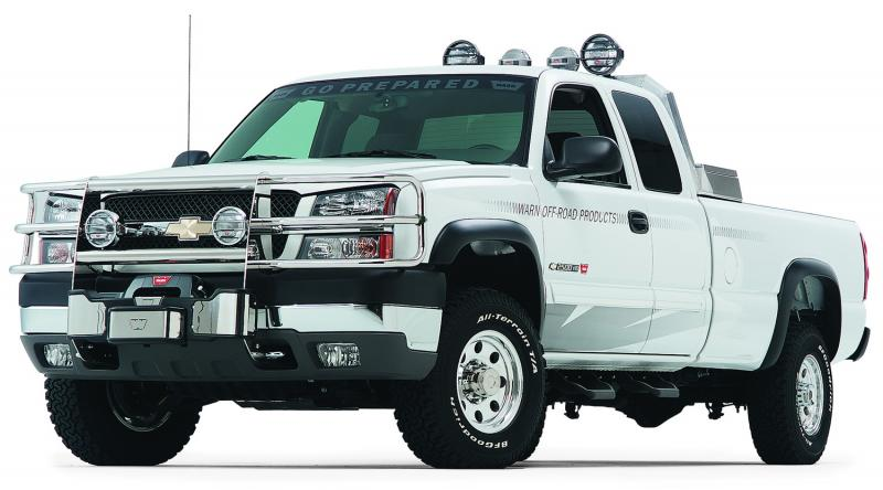 Warn With Insert Bars; Powder Coated; Black; Grille Guard Required