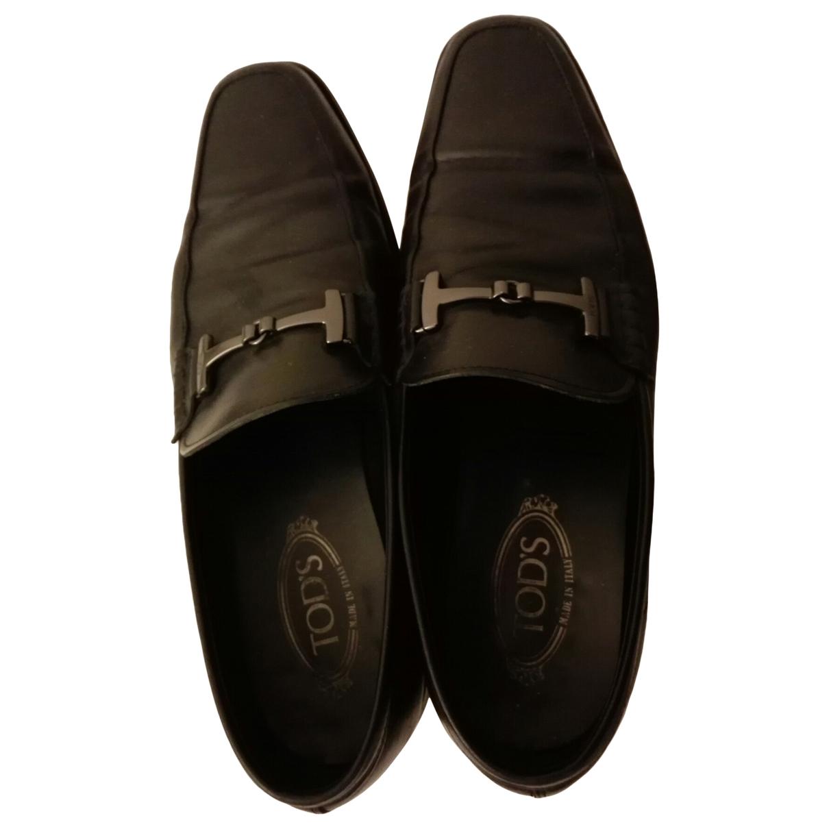 Tod's \N Black Leather Flats for Men 43 EU