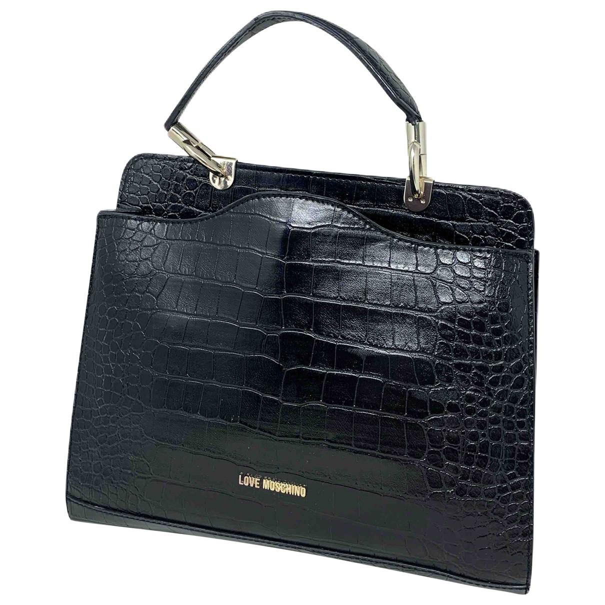 Moschino Love \N Black Leather handbag for Women \N