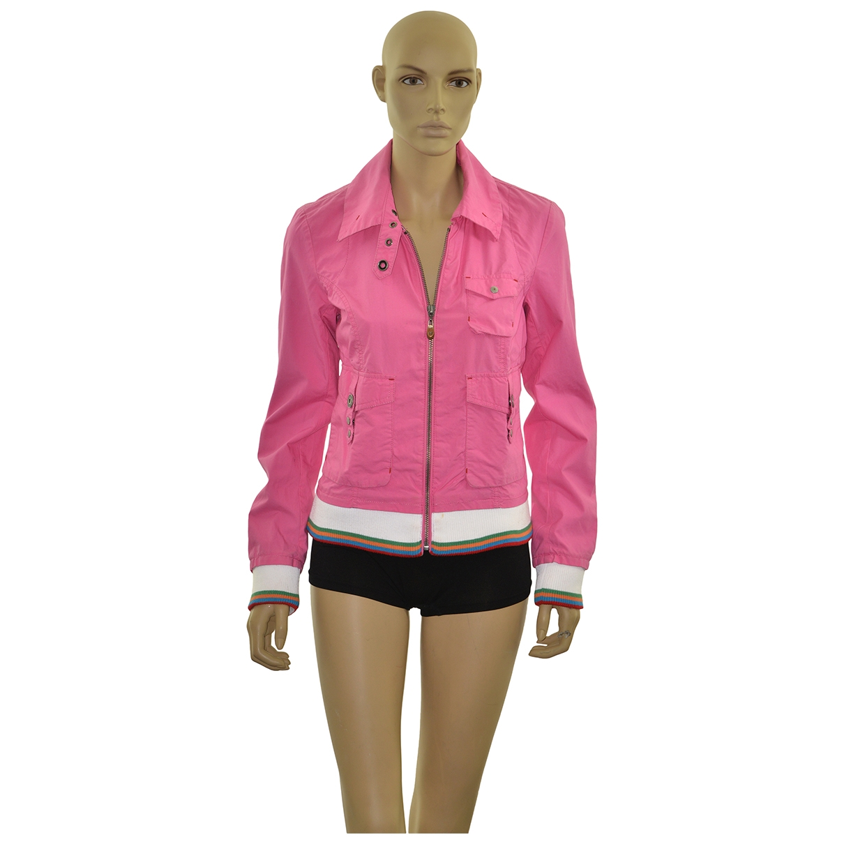 Tommy Hilfiger \N Pink Cotton jacket for Women M International