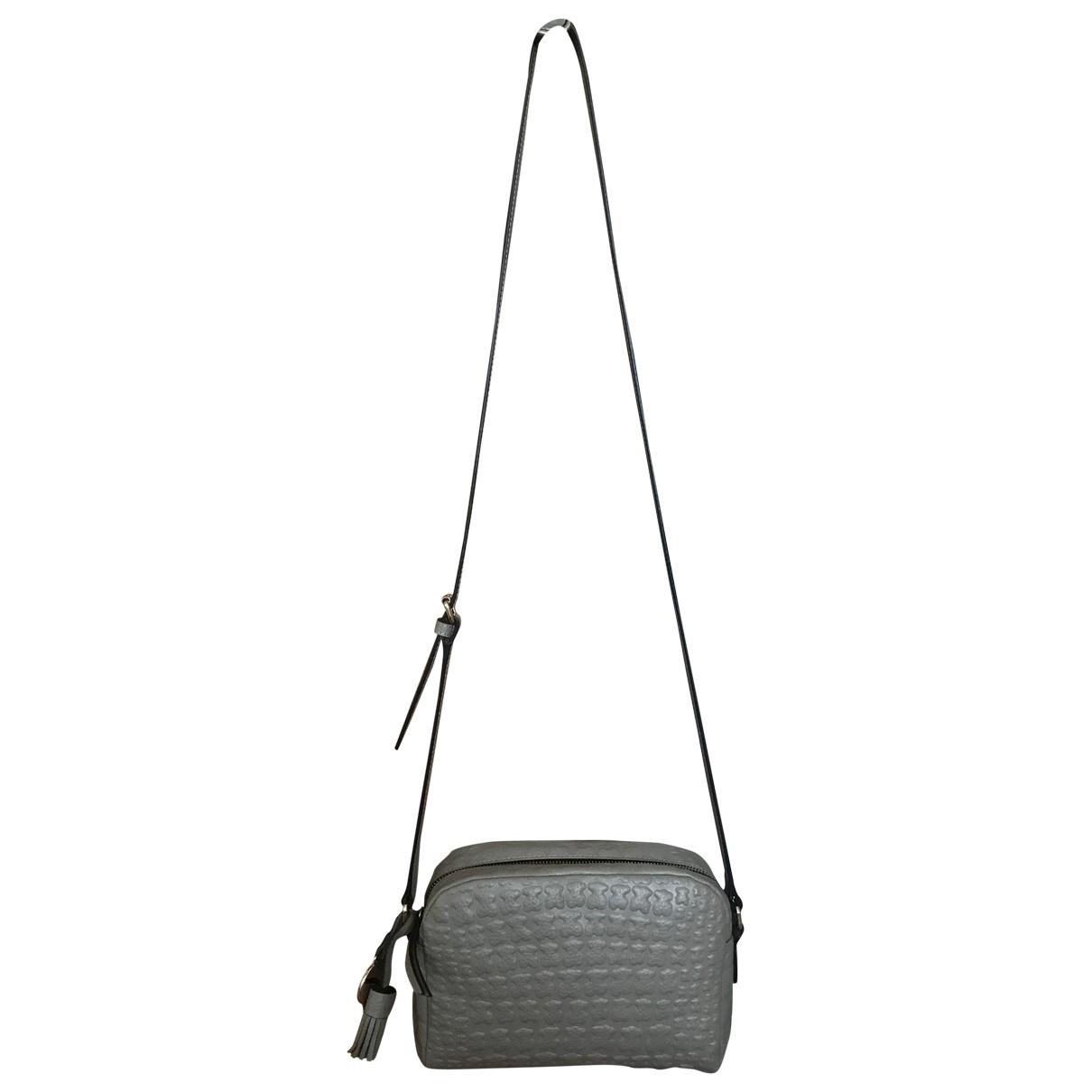 Atelier Tous \N Handtasche in  Grau Leder