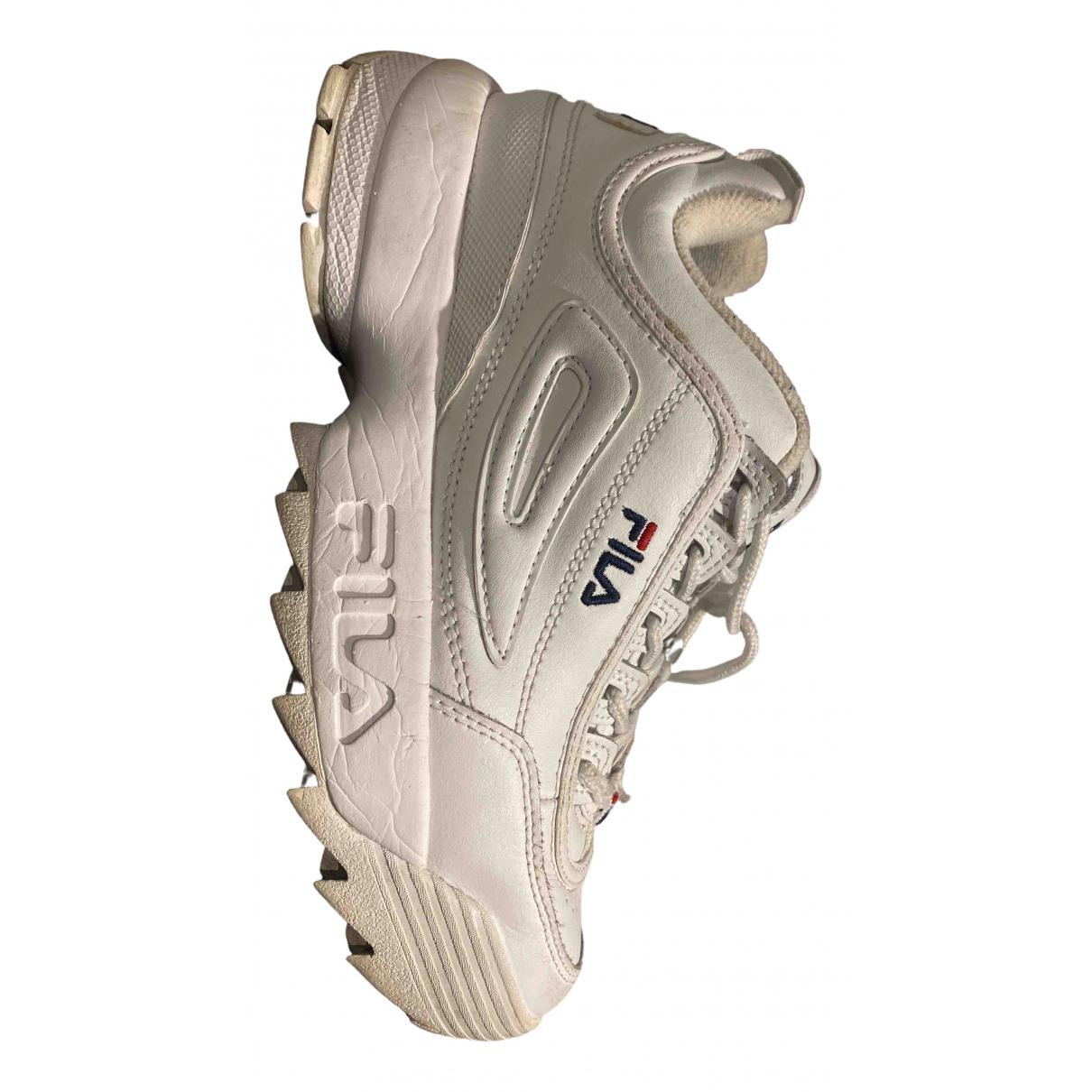 Fila N White Exotic leathers Trainers for Women 38.5 EU