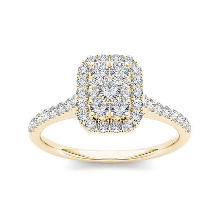 3/4 CT. T.W. Diamond 10K Yellow Gold Engagement Ring, 8 1/2 , No Color Family