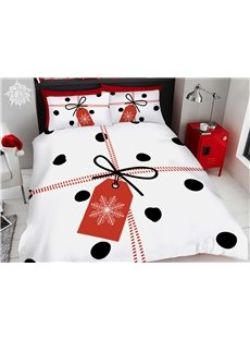 Christmas Bedding 3D Gifts Printed 4-Piece Polyester Bedding Sets/Duvet Covers