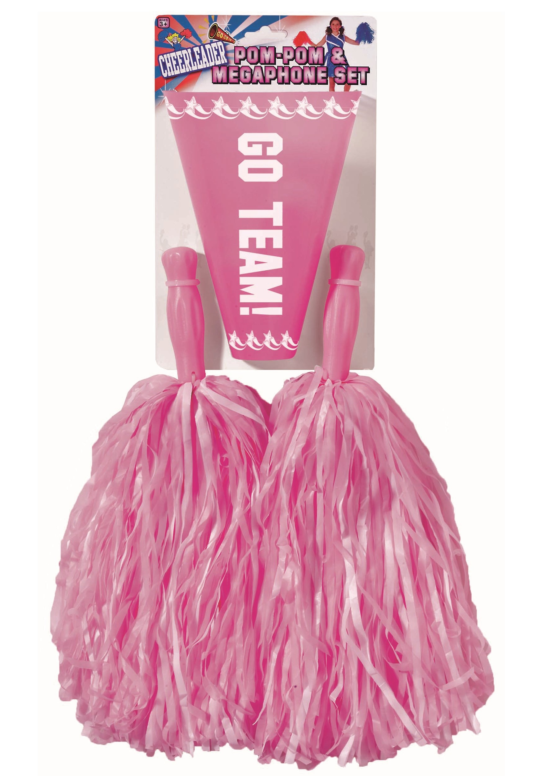 Pink Pom Pom and Megaphone Set