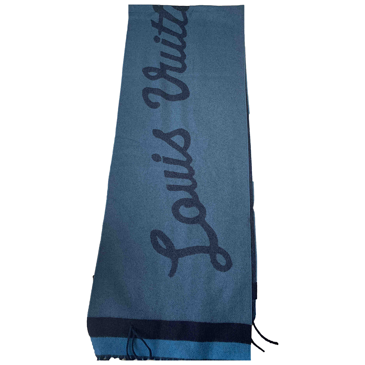 Louis Vuitton N Blue Cashmere scarf & pocket squares for Men N
