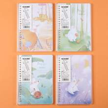 1pack Rabbit Print Cover Random Notebook