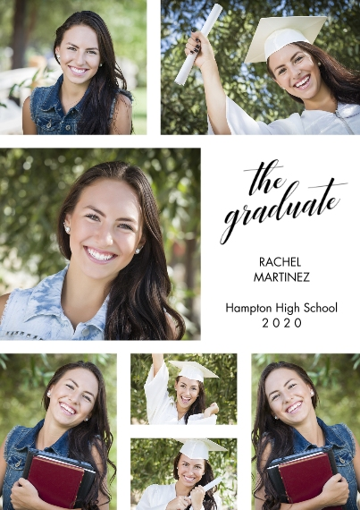 2020 Graduation Announcements 5x7 Cards, Premium Cardstock 120lb, Card & Stationery -The Graduate Photo Collage Announcement by Hallmark