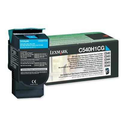 Lexmark C540H1CG Original Cyan Return Program Toner Cartridge High Yield