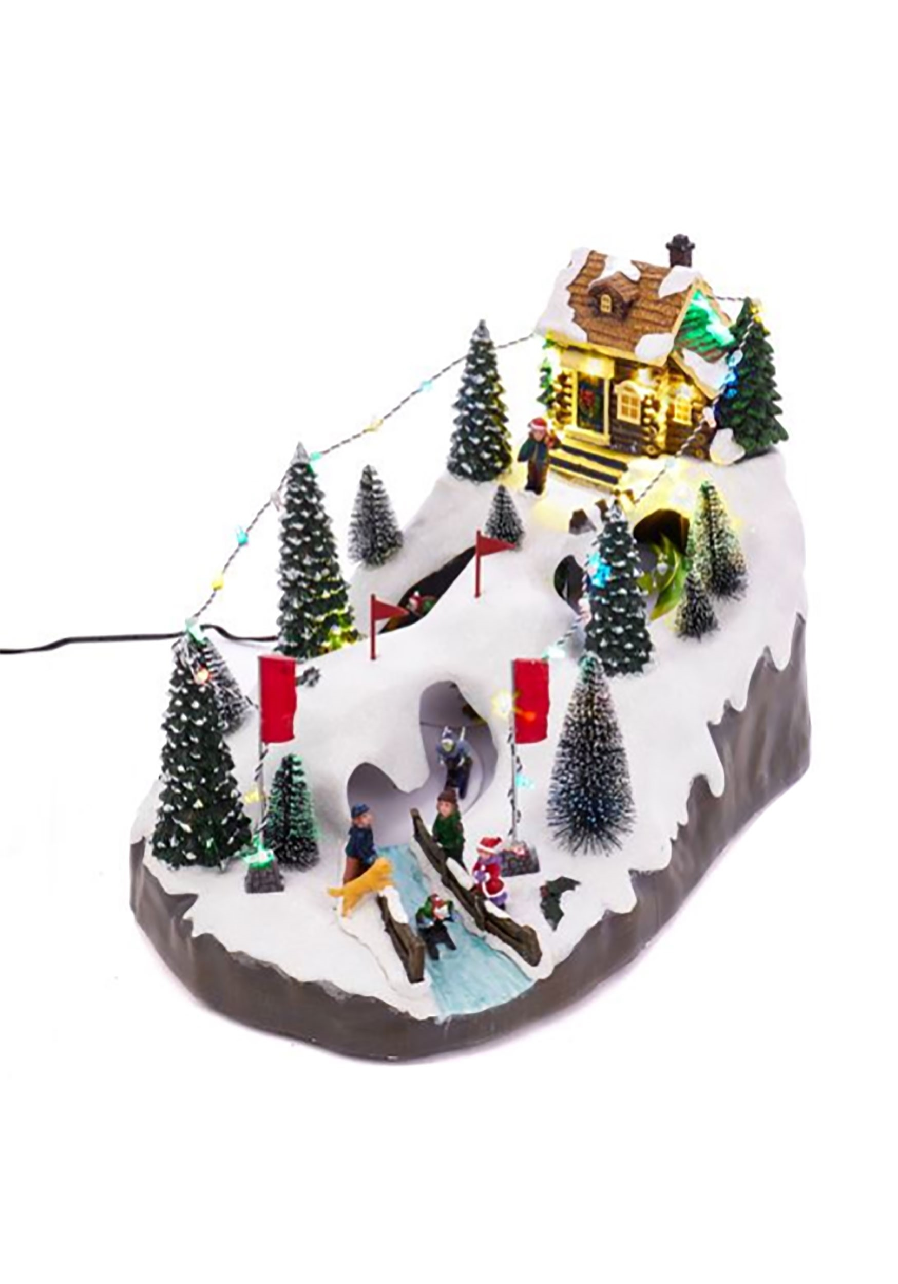 LED Christmas Skiing Village