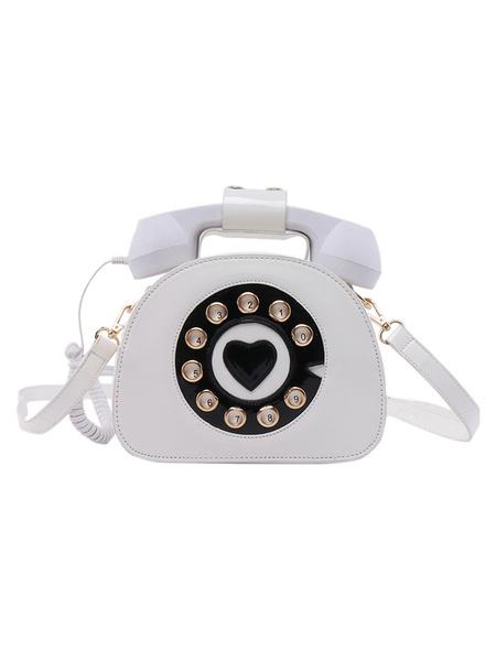 Milanoo Sweet Lolita Bag Phone Shaped PU Leather Cross Body Bag