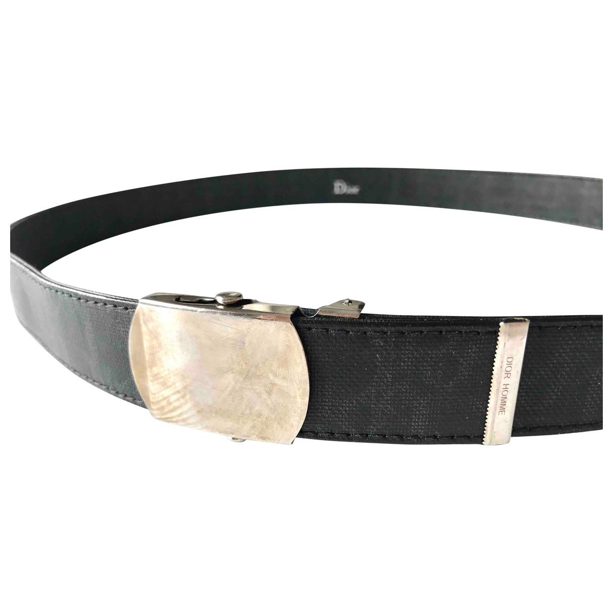 Dior Homme \N Black Cloth belt for Men 80 cm