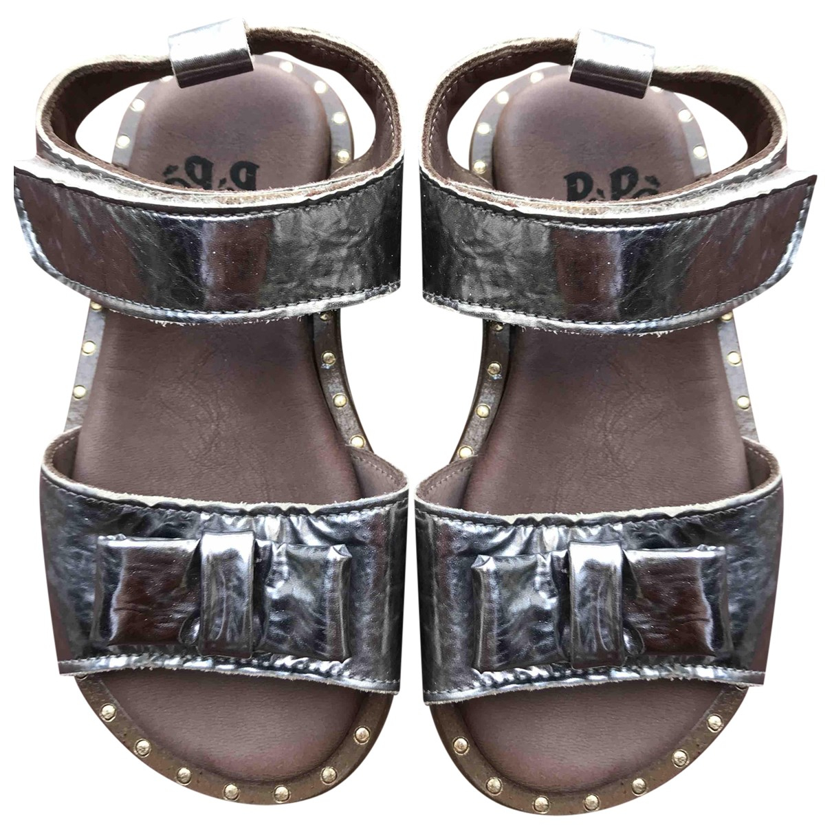 Pepe Children Shoes \N Metallic Leather Sandals for Kids 24 FR