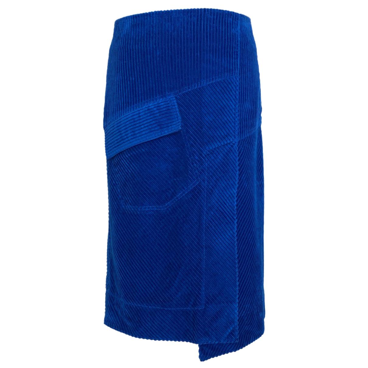 Cedric Charlier - Jupe   pour femme en coton - bleu