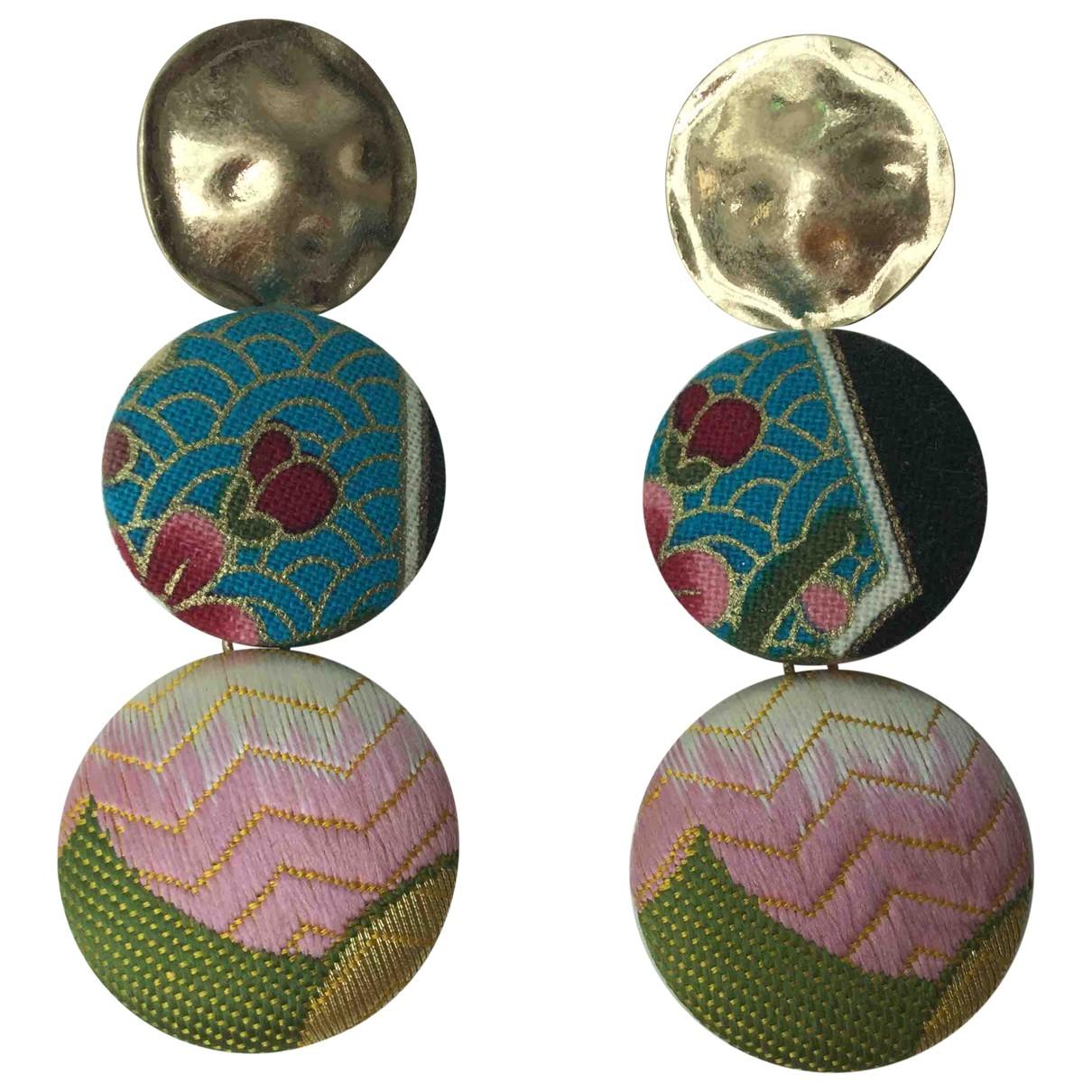 Zara \N Multicolour Metal Earrings for Women \N