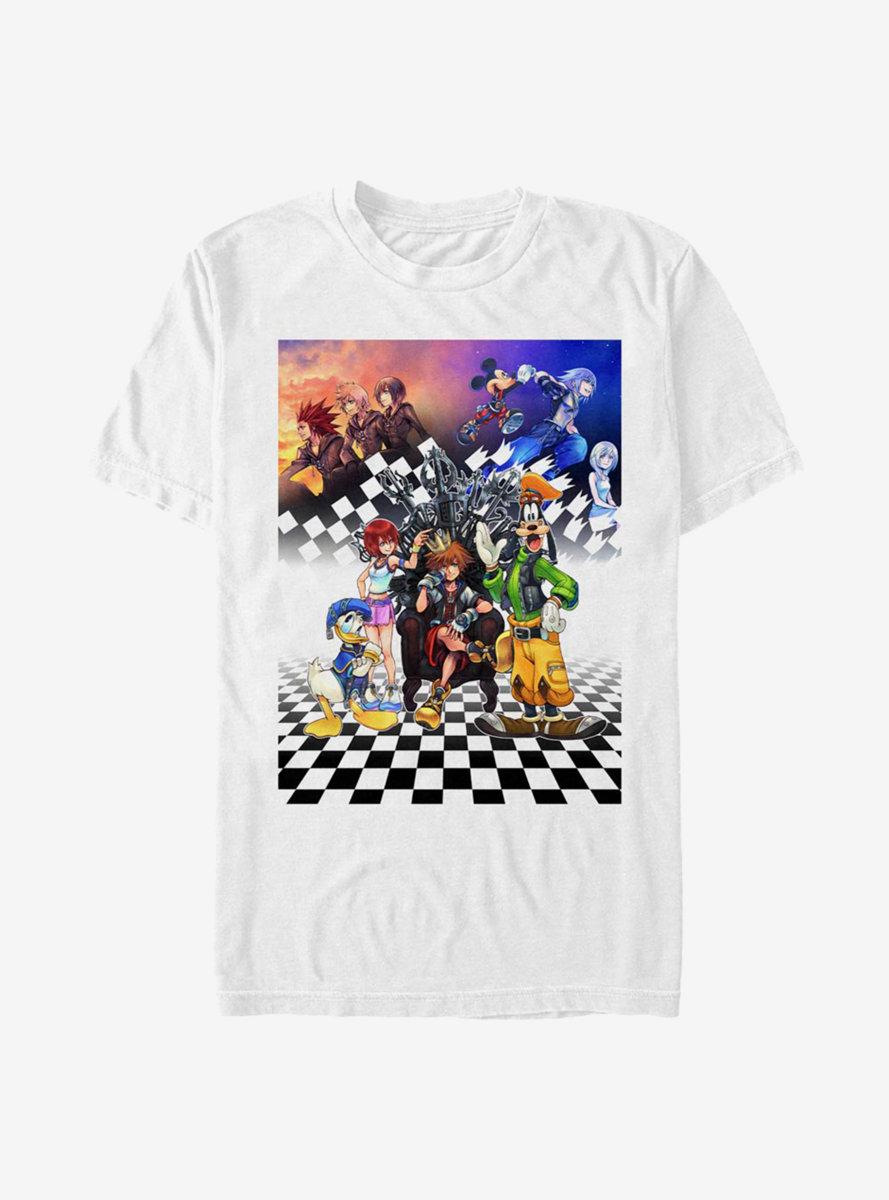Disney Kingdom Hearts Group Checkers T-Shirt