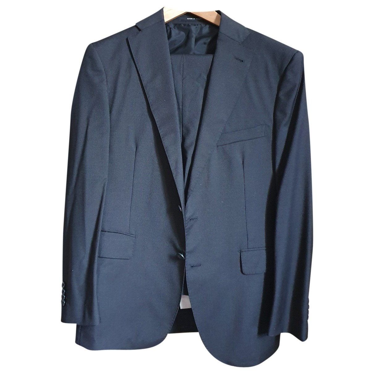 Tagliatore \N Black Wool Suits for Men 42 IT